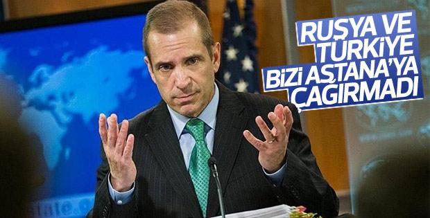 ABD: Astana'ya davet edilmedik