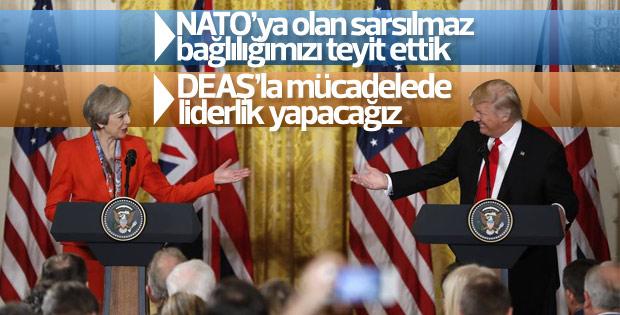 ABD Başkanı Trump İngiltere Başbakanı May ile görüştü