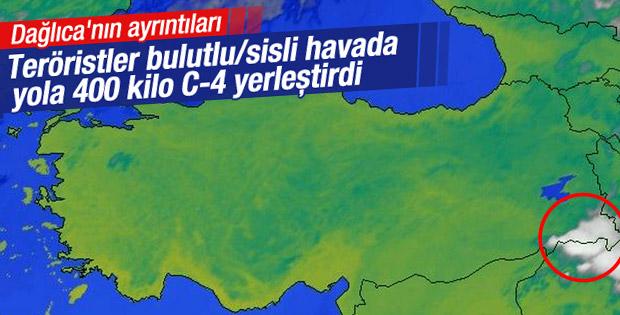 Dağlıca'da teröristler hava şartlarından yararlandı