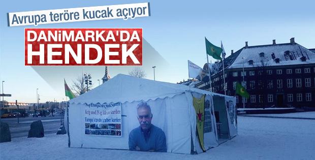 Danimarka'da PKK çadırı kuruldu