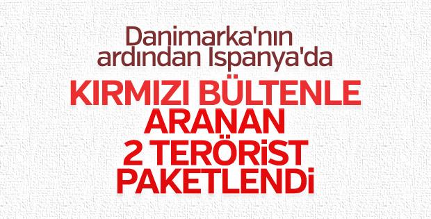 Kırmızı bültenle aranan 2 terörist yakalandı