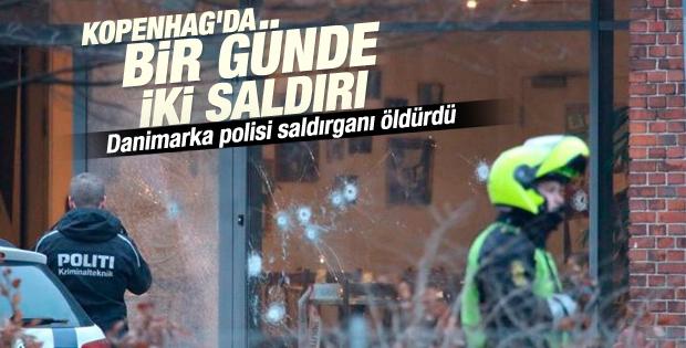 Danimarka'da polis saldırganı öldürdü