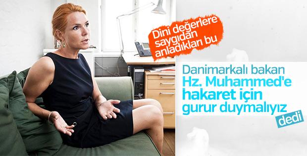 Danimarkalı bakandan Hz Muhammed'e hakaret