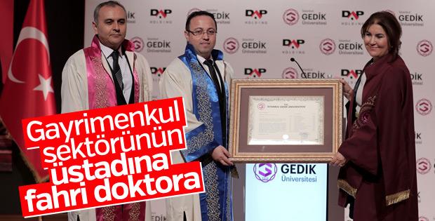 DAP Holding Yönetim Kurulu Başkanı Yılmaz'a fahri doktora