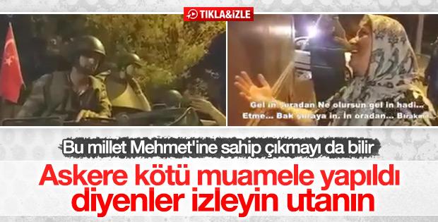 Askeri darbeden vazgeçirmeye çalışan Türk kadını