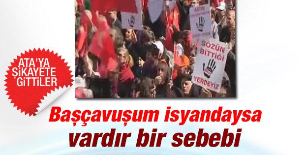Emekli astsubaylar Ankara'da eylem yaptı