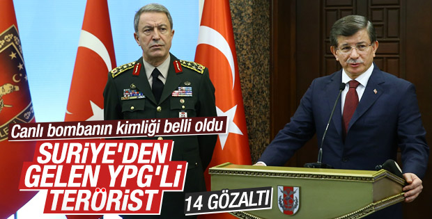 Davutoğlu: Ankara saldırganı YPG mensubu kişidir