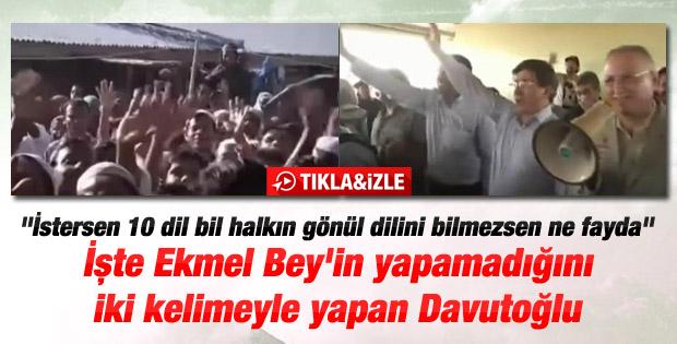 Ahmet Davutoğlu'ndan İhsanoğlu'na gönül dili dersi