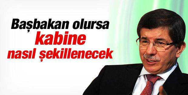 Davutoğlu Başbakan olursa kabine nasıl şekillenecek