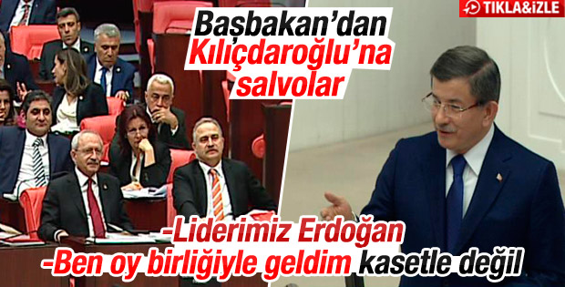 Başbakan Davutoğlu'nun TBMM konuşması