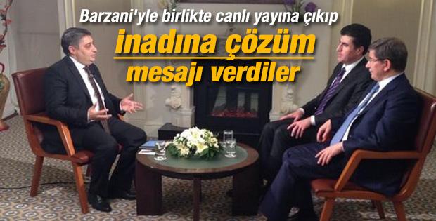 Davutoğlu ve Barzani TRT Haber özel yayınında konuştu