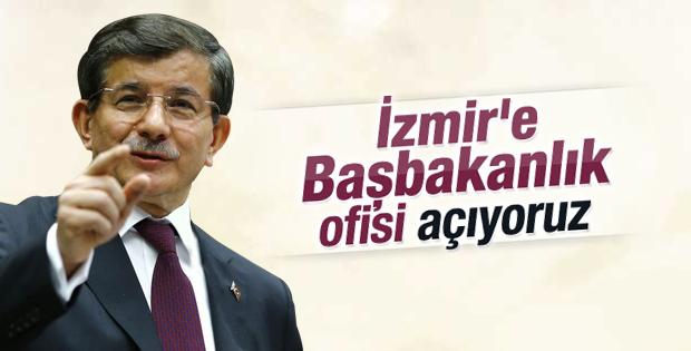 Başbakan Davutoğlu İzmir'de