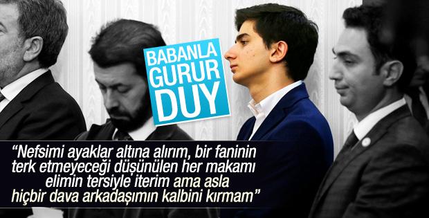 Başbakan Davutoğlu'nun oğlu da toplantıdaydı