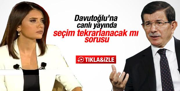 Davutoğlu 3. seçim iddiasını değerlendirdi