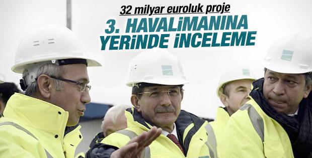 Başbakan Davutoğlu 3. Havalimanı inşaatını inceledi