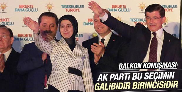 Başbakan Davutoğlu'nun balkon konuşması