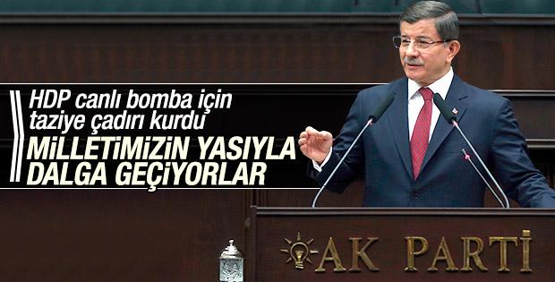 Başbakan Davutoğlu'ndan HDP'ye sert eleştiri