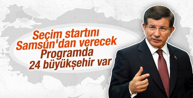 Başbakan Davutoğlu'nun 24 büyükşehirlik programı