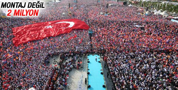 AK Parti İstanbul mitinginde dev kalabalık