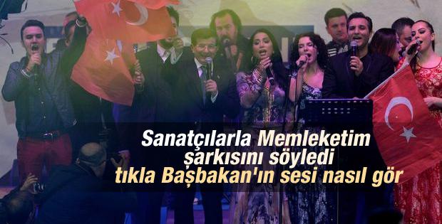 Başbakan Davutoğlu Memleketim şarkısını söyledi