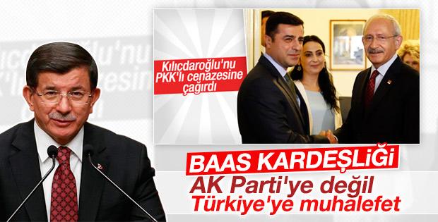 Ahmet Davutoğlu'ndan HDP ve CHP'ye sert sözler