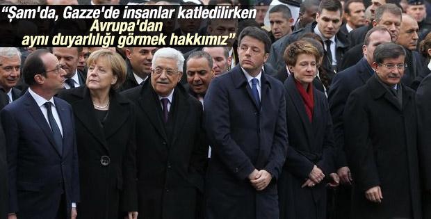 Davutoğlu Paris'teki yürüyüşün ardından konuştu İZLE