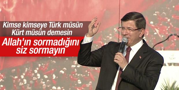Başbakan Davutoğlu'nun Yenikapı konuşması