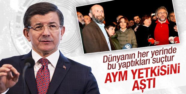 Başbakan Davutoğlu: AYM yetkisini aştı