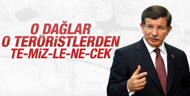 Davutoğlu Dağlıca'daki saldırıyla ilgili açıklama yaptı
