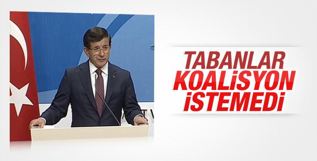 Koalisyon görüşmesinin ardından Davutoğlu'ndan açıklama