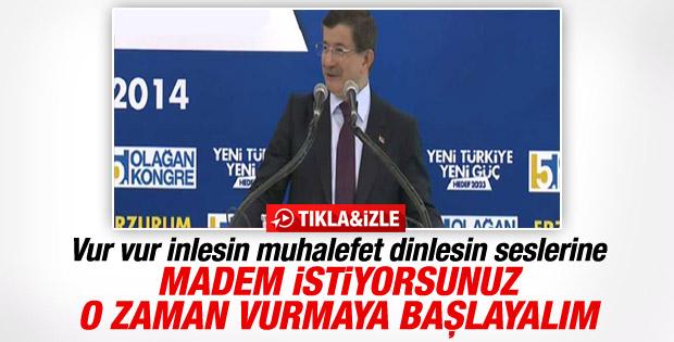 Davutoğlu Erzurum'da konuştu