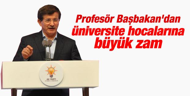 Davutoğlu açıkladı: Akademisyenlere yüzde 35 zam İZLE