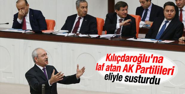 Davutoğlu'ndan AK Parti sıralarına susun uyarısı