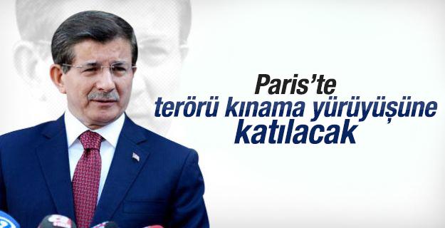 Başbakan Davutoğlu Fransa'ya gidiyor