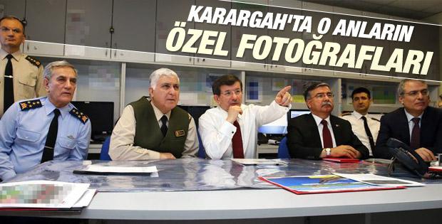Başbakan Davutoğlu Şah Fırat Operasyonu'nu bizzat izledi