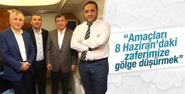 Davutoğlu'ndan seçim güvenliği tartışmaları için uyarı