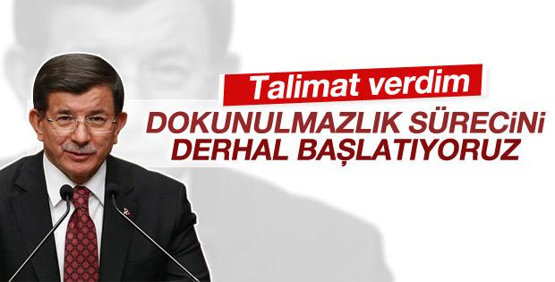 Davutoğlu dokunulmazlık süreciyle ilgili talimatı verdi