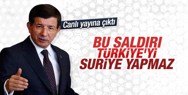 Davutoğlu Ankara'daki terör saldırısını değerlendirdi