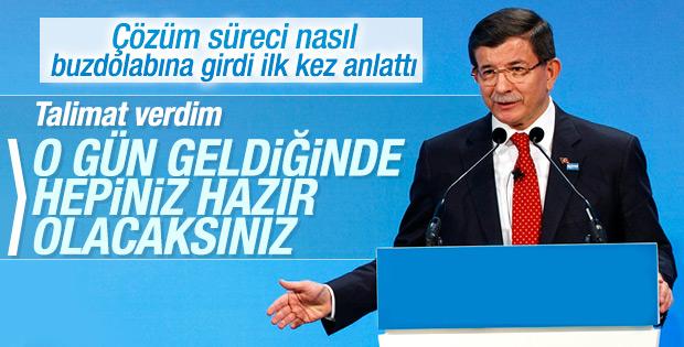 Davutoğlu: Çözüm süreci kafamda 6-7 Ekim'de bitti