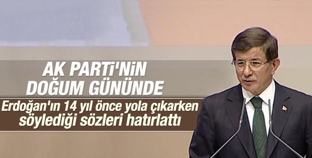 Davutoğlu AK Parti'nin 14. kuruluş yılında konuştu