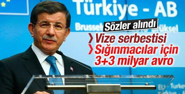 Davutoğlu'ndan Türkiye-AB zirvesi sonrası açıklamalar