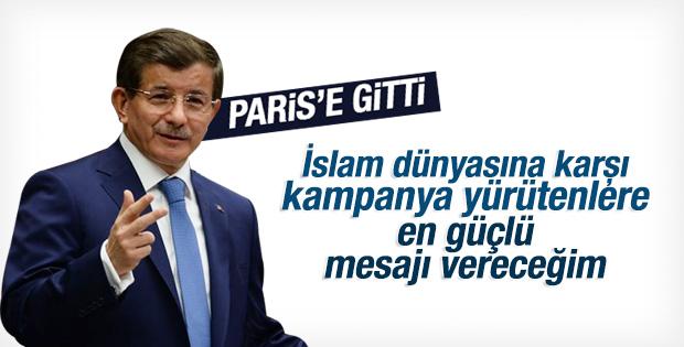 Başbakan Davutoğlu'ndan Paris ziyareti öncesi açıklama İZLE