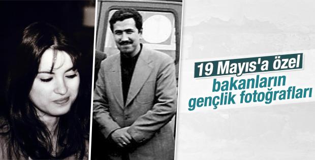 Davutoğlu ve bakanların gençlik fotoğrafları