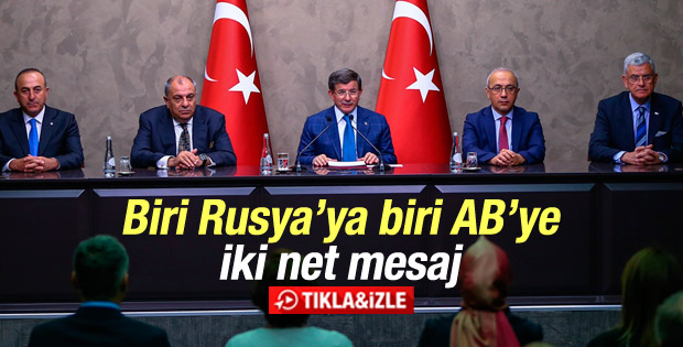 Davutoğlu: Dünyanın Türkiye'ye sadece teşekkür borcu var