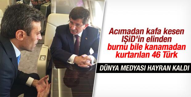 Serbest kalan Türkler dünya basınında yankılandı