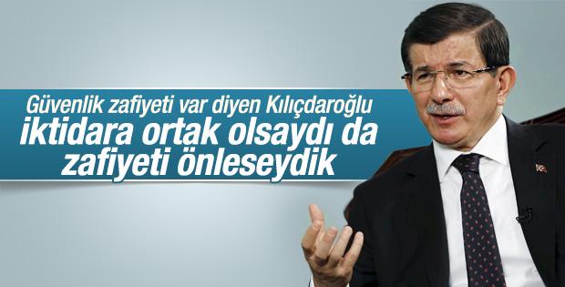 Davutoğlu'ndan Kılıçdaroğlu'nun eleştirilerine yanıt