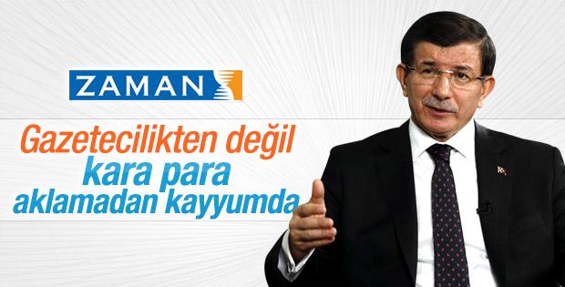Davutoğlu: Zaman'da kara para aklama iddiası var