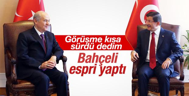 Ahmet Davutoğlu Bahçeli ile görüşmesini anlattı