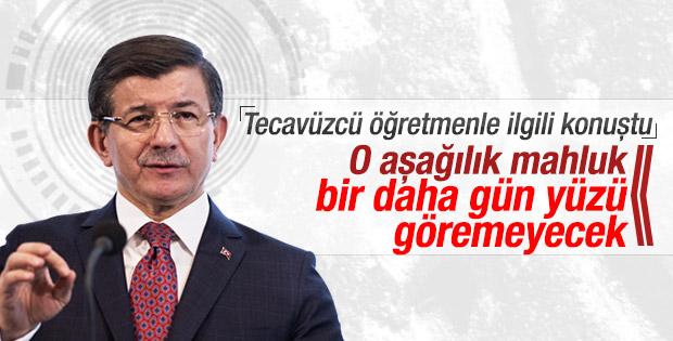 Davutoğlu Karaman'daki cinsel istismarla ilgili konuştu