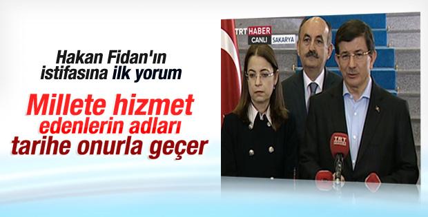 Davutoğlu Hakan Fidan'ın istifasıyla ilgili konuştu